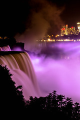 Bridal Falls at Night (FarFlungTravels) Tags: newyork ontario niagarafalls waterfall cascade