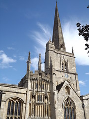 St John the Baptist Church, Burford, Oxfordshire, 8 September 2013 (AndrewDixon2812) Tags: church parish cotswolds spire oxfordshire burford stjohnthebaptist windrush southporch earlofwarwick