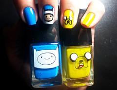 Esmaltes Hora da Aventura (coloresdasam) Tags: azul amarelo nailart esmaltes adventuretime