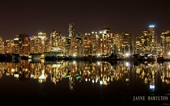 Vancouver (B.Pacific) Tags: park canada skyline night vancouver evening bc seawall stanley stanleypark relfection borderfx