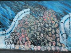 East Gallery Art, Berlin Wall, Germany - DSCN5023 (John Hickey - fotosbyjohnh) Tags: blue berlin art germany painting see google nikon mural flickr faces grafiti places berlinwall wallpainting eastsidegallery googleimages famouslandmark flickrimages berlintourism berlinattractions