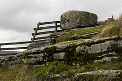 Keep out or stay in?!! (Keith in Exeter) Tags: uk england lines fence landscape grey nationalpark rocks control top gray boulder devon rails granite barrier tor posts moor dartmoor enclosure moorland restriction sittaford copyrightkeithbowden2013