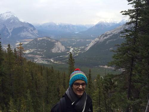Im Hintergrund: Banff, Fairmont Hotel und Tunnel Mountain