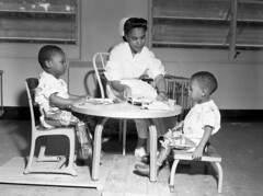 Nurse Grace Kyler working with polio victims at the FAMU Hospital in Tallahassee, Florida
