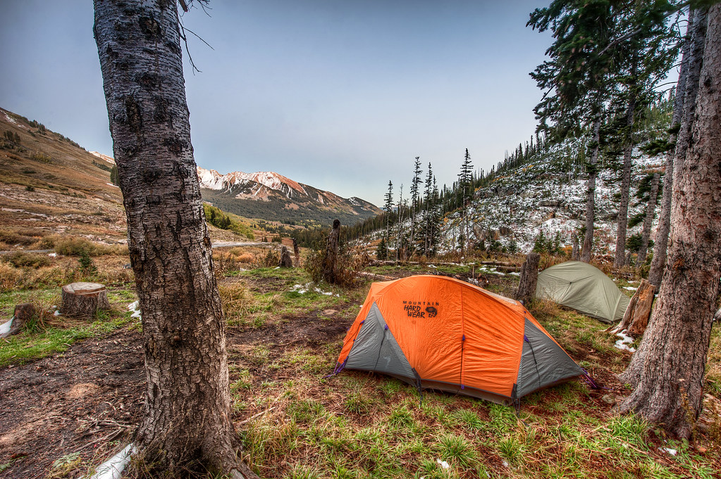 The perfect campsite just north of Mt. Crested Butte and Gothic Mountain.