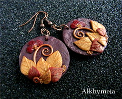 Hidden Nature S14 (Alkhymeia) Tags: wood flowers original autumn flower art fall nature earings leaves foglie spiral leaf woods hand natural artistic blossom handmade spirals unique ooak magic inspired jewelry bijoux jewellery falling polymerclay fimo fairy fantasy clay wicked rest swirl veins foglia bud lovely elegant delicate autunno autumnal enchanted whimsical sculpted wiccan elvish polymer premo arcilla argilla orecchini polimer sintetica polimerica arrings werable alkhymeia alkimeia alkhimeia