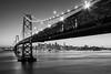 SF Connection (boingyman.) Tags: sf sanfrancisco bridge urban bw white black monochrome landscape cityscape baybridge scape yerbabuenaisland boingyman