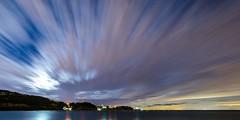 Piran (Orso Grisbi) Tags: longexposure moon night clouds nuvole luna slovenia moonlight piran pirano