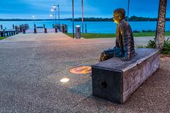 Port Macquarie ('whitewithone) Tags: sculpture bronze australia newsouthwales portmacquarie hastingsriver siredmundbarton
