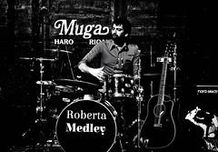 Roberto (B.B.H.70) Tags: madrid blackandwhite espaa music blancoynegro drums spain guitar live guitarra group musica grupo rioja directo batera haro muga platillos