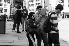 Ipad Tourist (DanOughton) Tags: street urban blackandwhite bw apple nikon bath roman tourist baths romanbaths ipad d90 nikond90