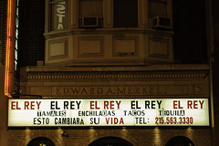 El Rey (phillytrax) Tags: city urban usa philadelphia sign night america unitedstates pennsylvania centercity pa signage philly elrey chestnutstreet canonef50mmf14usm cityofbrotherlylove stephenstarr downtownphiladelphia downtownphilly starrrestaurants