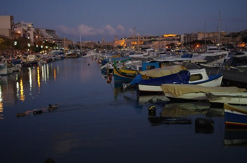 Boats in Msida marina