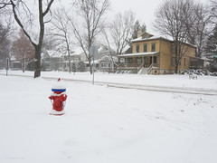 Hydrant in Snow (Jonathan Lurie) Tags: winter snow hydrant january wilmette