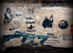 Evolution (Mr Baggins) Tags: streetart graffiti stencilart soweto kliptown ladyaiko