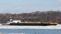 Quantico Creek and Double Skin 38 (blazer8696) Tags: usa ny newyork creek river boat unitedstates skin double tugboat hudson tug milton vane barge 38 quantico 2014 ecw img1609 t2014