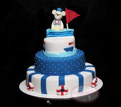 Bolo ursinho Marinheiro (Gloria Aguiar Cake Designer) Tags: riodejaneiro bolo aniversário 1ano menino ursinho marinheiro festainfantil modelagem pastaamericana bolodecorado ursinhomarinheiro gloriaaguiarcake