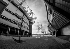 Sunderland AFC. The Stadium of Light. (CWhatPhotos) Tags: pictures camera blue light red england sky white fish eye club clouds digital pen that lens lite four photography football focus day skies foto with view image artistic cloudy pics stadium north wide picture ground pic olympus images east fisheye arena have photographs photograph fotos micro manual 35 olympuspen which skys footy fit contain 43 sunderland thirds 2014 f35 75mm stadia mft sunderlandafc safc samyang esystem sanyang cwhatphotos epl5 redandwhiteafc