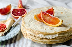 Pancakes with oranges (teleginatania) Tags: food orange white hot green up closeup fruit cheese pancakes breakfast dessert lunch cuisine golden three leaf close sweet sauce background cottage decoration tasty plate nobody fresh stack gourmet delicious meal round vegetarian pancake crepes suzette rolled nutrition