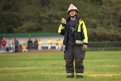 Ground contact (lenswrangler) Tags: ems rescue elcerrito cerritovistapark ecfd elcerritofiredepartment battalionchief firefighter turnout radio groundcontact landingzone