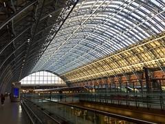 Eurostar trains.  St Pancras railway station.  London, UK.  March 24 2017. (Dan Haneckow) Tags: 2017 eurostar stpancras london depots