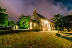 St Matthews Church, Grovely (stephenk1977) Tags: australia queensland qld brisbane grovely wood church anglican chapel mitchelton night moon light shadow nikon d3300 stmatthews