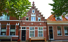 Medemblik (angelsgermain) Tags: houses netherlands medemblik north holland westfrisia roofs doors windows benches plants flowerpots trees façades street gabledhouses traditional buildings architecture