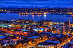 Liverpool Docks and Across the Wirral HDR (phat5toe) Tags: liverpool merseyside night lights hdr rivermersey ships wirral cityscape longexposure nikon d7000