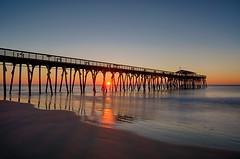 Like It's A Big Surprise (karenhunnicutt) Tags: surfsidepier southcarolina sunrise atlanticocean karenhunnicuttphotographycom karenhunnicutt fineartphotographer