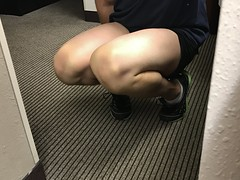 GESA8482 (guythigh) Tags: shapely shaved legs leg thighs thigh smooth knees knee squat crouched