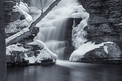 Deer Leap Falls (William_Doyle) Tags: dingmans ferry pa march 2017 ice nature water waterfall winter cold creek rocks stream river childs state park deer leap falls