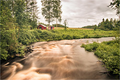 Red River House (Neal Williams) Tags: sweden river longexposure norrbotten nature landscape