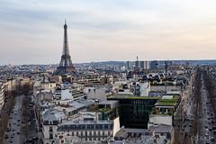 Paris vom Arc de Triomphe (EISBÆR) Tags: paris tour eiffel eiffelturm arc de triomphe