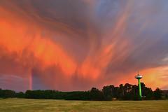 Fire In The Sky (a.holenkova) Tags: sky wow orange sunset storm lightstorm rainbow double scenery alfabeta nature phenomenon