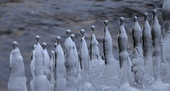 Ice-people (Mika Lehtinen) Tags: upsidedown ice icicles melting art snow water spring winter cold finland