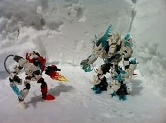 Ice King Beast with Hero Factory Mecha Suit (Izewolf Hunter) Tags: moc lego ice izewolf hunter beast king hero factory mecha suit