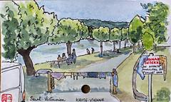 Le Tour de France virtuel - 87 - Haute-Vienne (chando*) Tags: aquarelle watercolor croquis sketch france