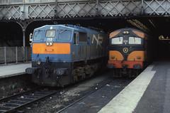 13.09.86 Dublin Connolly 113 (NIR)  and 031 (philstephenrichards) Tags: ireland ie iarnrodeireann nir northernirelandrailways class111 113 class001 031 dublinconnolly gm generalmotors