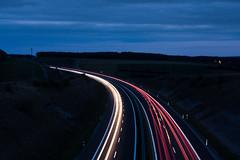 Autobahn bei Nacht (Dagobert1980_GPS) Tags: autobahn nacht langzeitbelichtung strasse licht auto