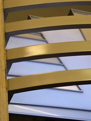 Chicago, Architectural Abstract (Mary Warren (8.3+ Million Views)) Tags: chicago abstract lines curves bronze metal blue