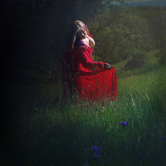 'What Dreams May Come' (Natasha Root Photography) Tags: natasharootphotography inspire imagine create painterly red meadow vivid dark dress dream squareformat