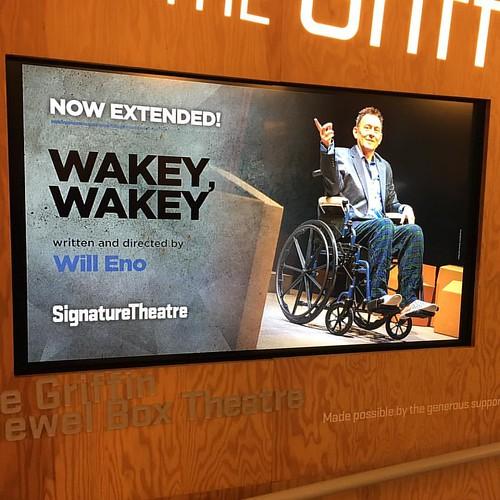 This was so good. #wakeywakey #michaelemerson #willeno #theater