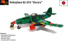 Nakajima Ki-201 Kayru Fighter (Eínon) Tags: lego me262 messerschmitt nakajima japan ki201 karyu fighter bomber interceptor