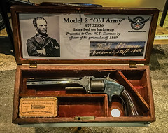 General W.T. Sherman Model 2 Old Army revolver at NRA National Firearms Museum Fairfax VA (mbell1975) Tags: fairfax virginia unitedstates us general wt sherman model 2 old army revolver nra national firearms museum va firearm gun guns handguns handgun museo civil war union grand shermans civilwar