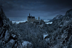 The Precious (FredConcha) Tags: neuschwanstein pqlqce castel germany lee nikon d800 fredconcha mountains cliffs night clouds trees snow landscape nature