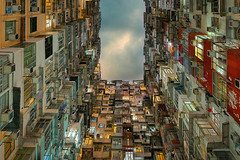 Yick Cheong raya pro edit (Bernhard Sitzwohl) Tags: hongkong hk architecture living skyscraper urban dark night city building sar quarry bay yick cheong highrise travel autofocus