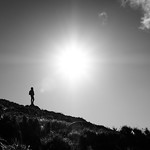 The backpacker - Wicklow, Ireland - Black and white street photography thumbnail