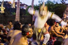 Kecak Dance, Bali: Hanuman, the Monkey God, leaps forth! (Rajan Raju) Tags: kecakdance art dance asia uluwatu indonesia bali ramayana