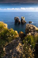 """""""Costa Quebrada"""" (allabar8769) Tags: cantabria flores lanzarote liencres losurros mar paisaje puerta rocas"""