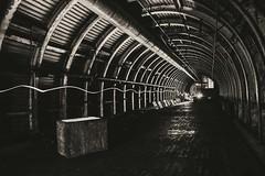 Remnants of the past. (Brok3nart) Tags: royalmarines army military militarybunker deepshelter war worldwar2 blackandwhite longexpo longexposure lightpainting urbex urbanexploration tunnel tunnels noir